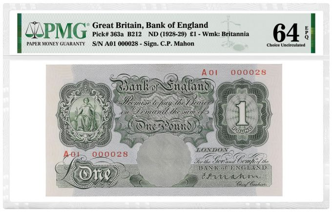 Great Britain, Bank of England 1928-29 £1