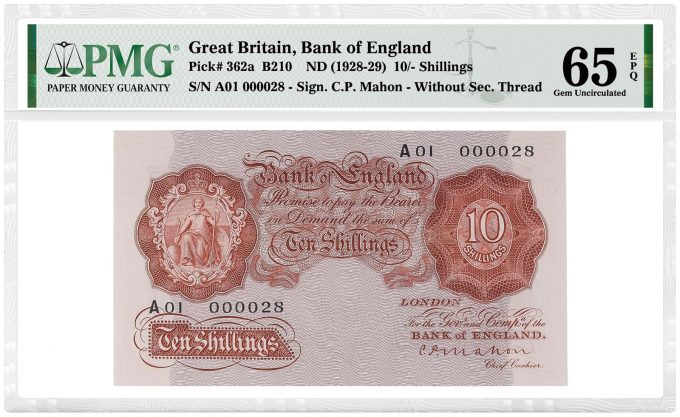 Great Britain, Bank of England 1928-29 10-Shillings