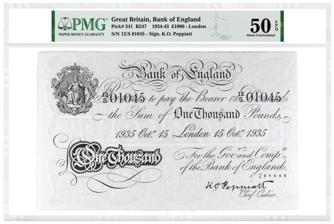 Great Britain, Bank of England 1934-43 £1,000