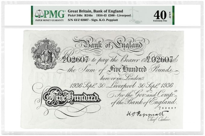 Great Britain, Bank of England 1934-43 £500