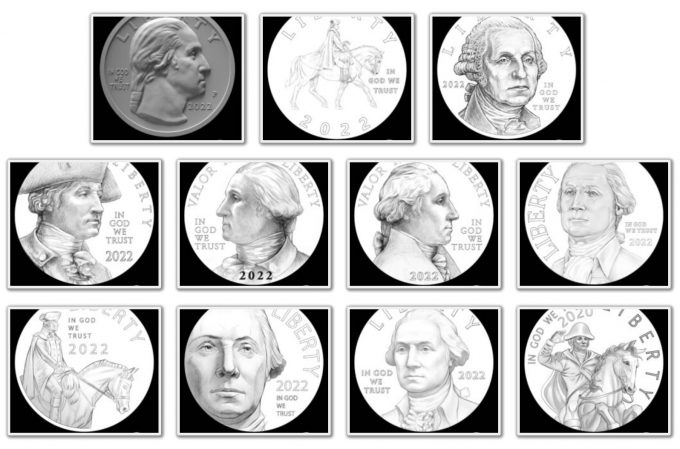 Obverse Candidates for American Women Quarters