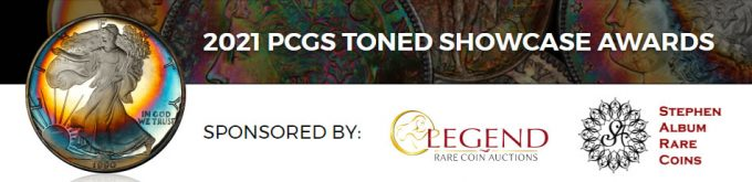 PCGS Toned Coins Showcase Banner