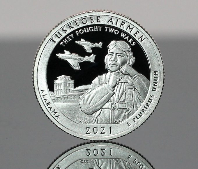 Photo 2021-S Proof Tuskegee Airmen National Historic Site quarter - reverse