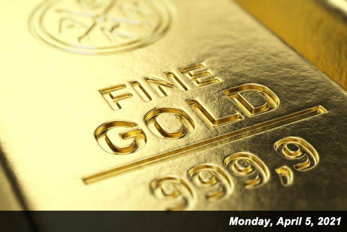 gold closeup shot April 5,2021