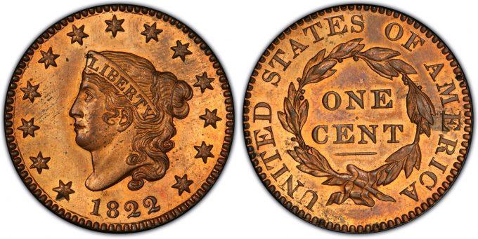 1822 Proof Large Cent