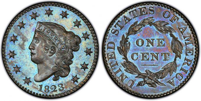 1823 Proof Large Cent