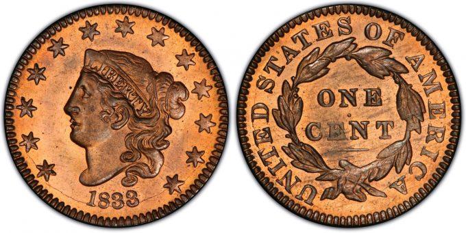 1833 Proof Large Cent