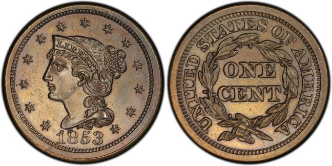 1853 PCGS Proof 64 Brown