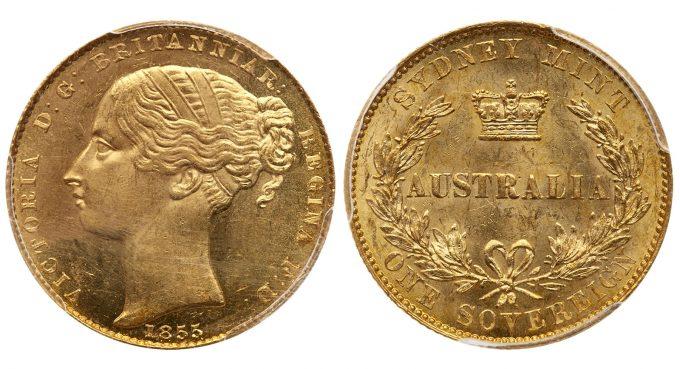 1855 Australia Gold Sovereign