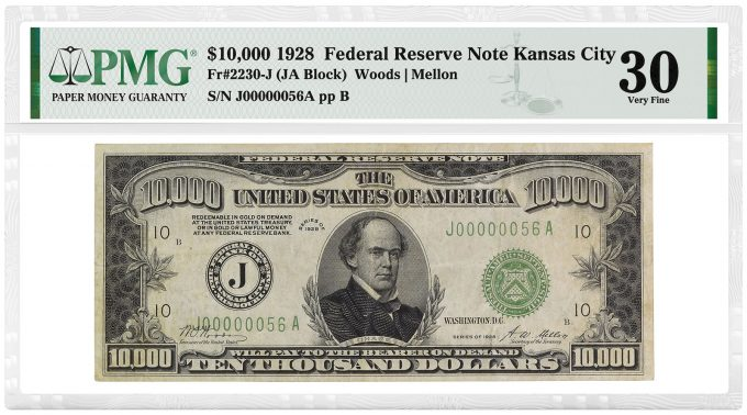 1928 $10,000 Federal Reserve Note