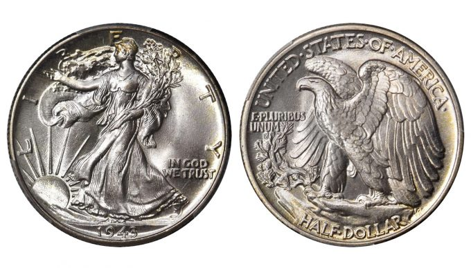 1943 Walking Liberty Half Dollar. MS-68+ (PCGS). CAC