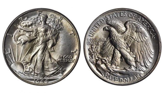 1944 Walking Liberty Half Dollar. MS-68 (PCGS). CAC