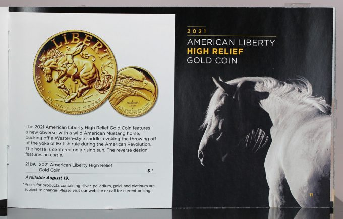 2021 American Liberty Gold Coin-brochure page
