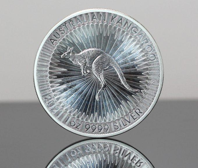 2021 Australian Kangaroo 1oz Silver Bullion Coin - Reverse