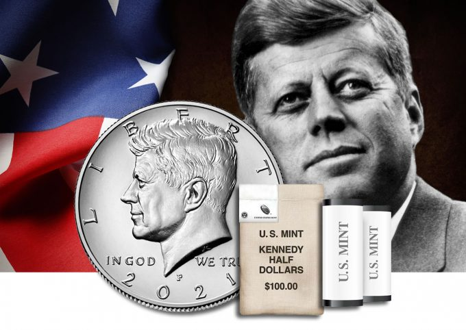 The United States Mint is offering circulating editions of 2020 P&D Kennedy Half Dollars