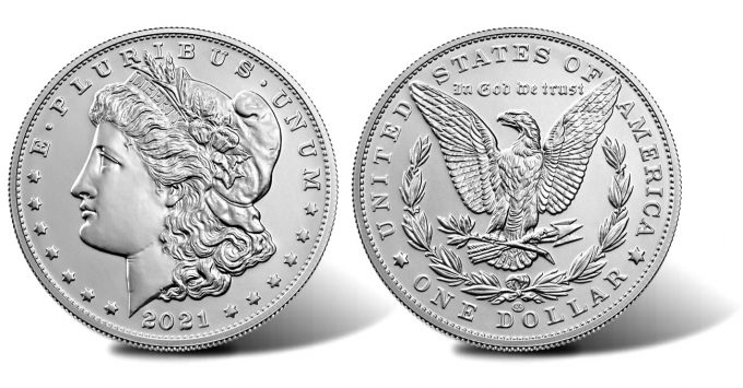 2021 Morgan Silver Dollar with CC Privy Mark