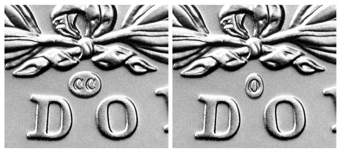 Mint Close Up of CC and O Privy Marks