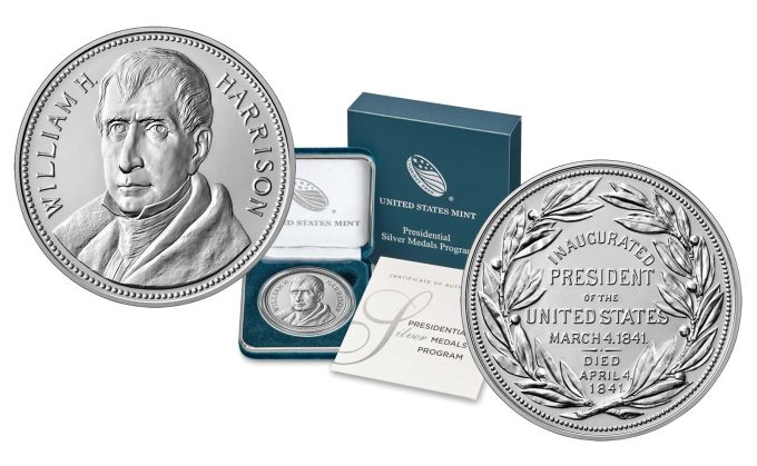 Mint product images William Henry Harrison Presidential Silver Medal