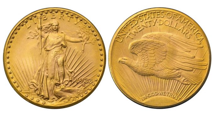 The sole 1933 Double Eagle in private hands. (Image: Sotheby's)