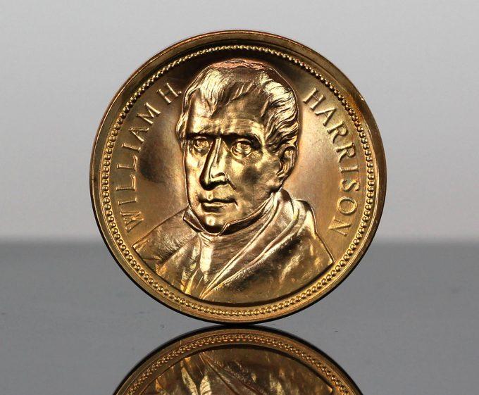 William Henry Harrison Presidential Bronze Medal - Obverse
