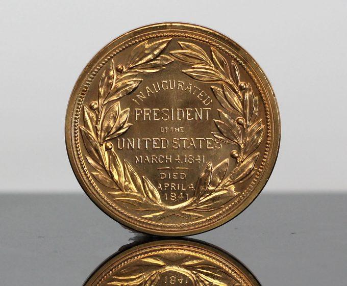 William Henry Harrison Presidential Bronze Medal - Reverse