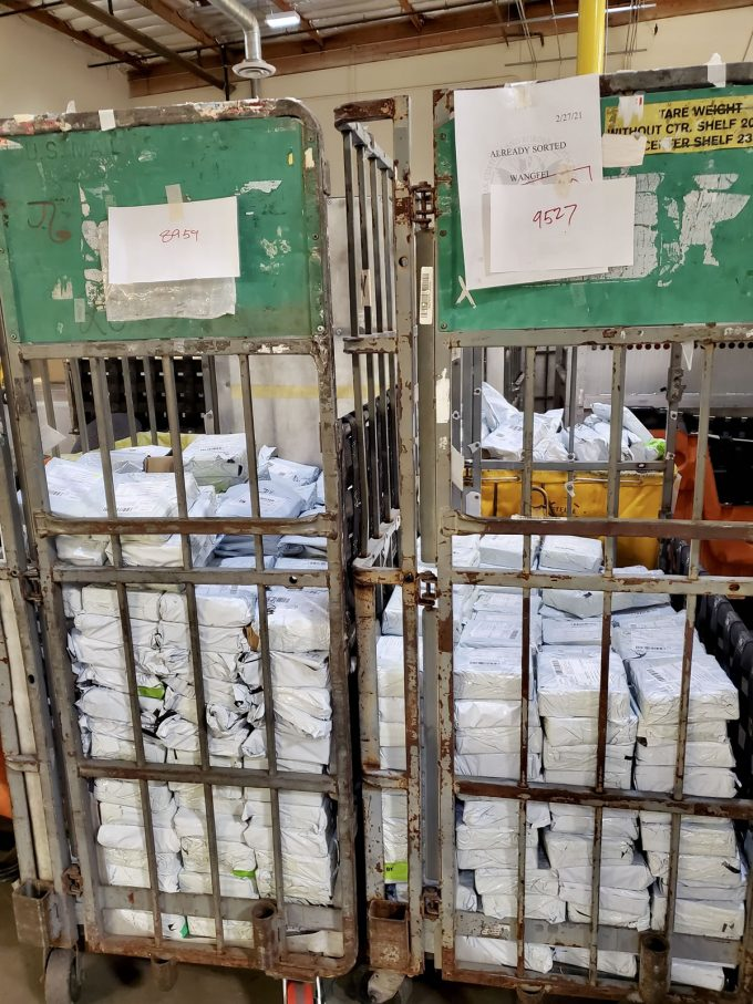 Hundreds of seized packages