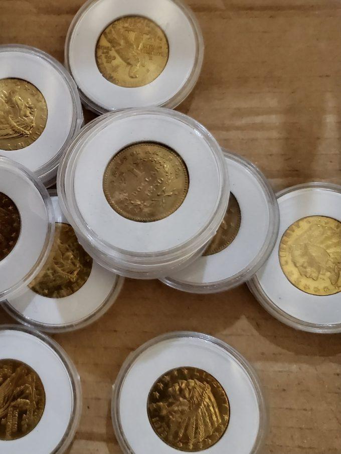 Intercepted fake gold coins