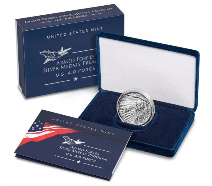 US Mint product images Air Force Silver Medal