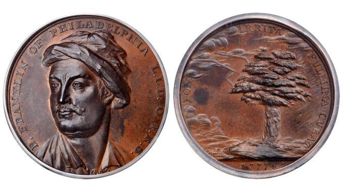 1777 B. Franklin of Philadelphia Medal