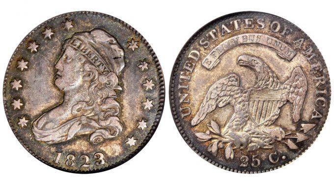 1823/2 Capped Bust Quarter