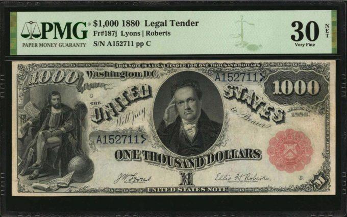 1880 $1000 Legal Tender Note