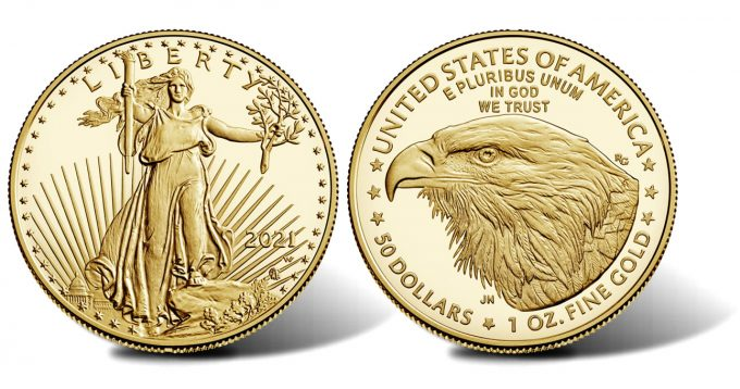 2021-W $50 Proof American Gold Eagle, Type 2