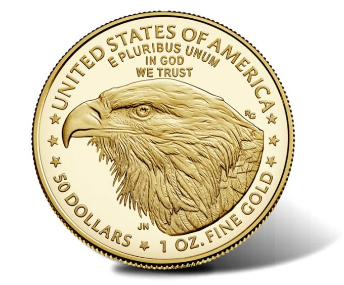 2021-W Proof American Gold Eagle, Type 2 - reverse
