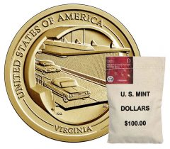 Bag of 2021-D American Innovation Dollars for Virginia