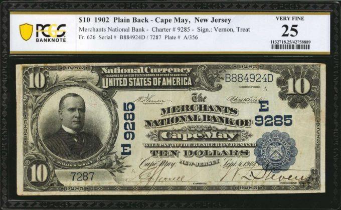 Cape May $10 1902 Plain Back