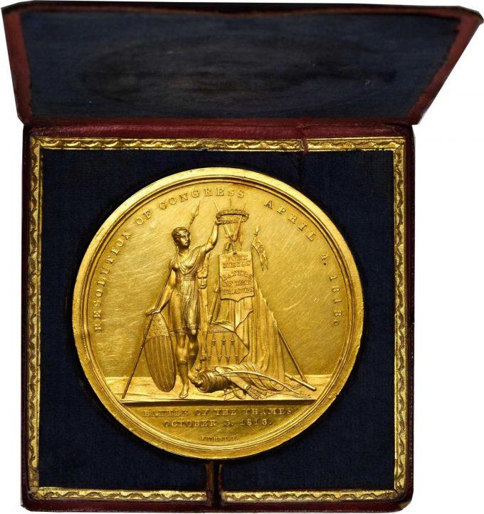 Reverse side of medal
