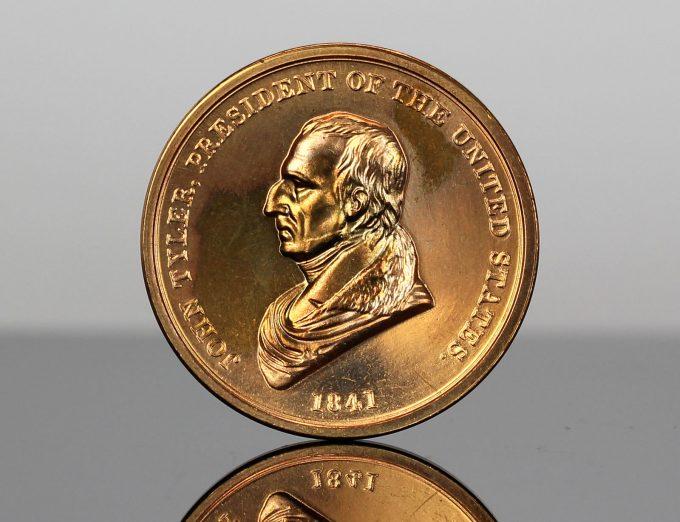 John Tyler Presidential Bronze Medal - Obverse