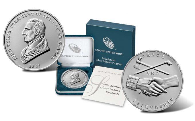 Product images John Tyler Presidential Silver Medal