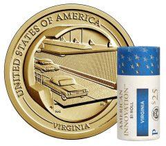 Roll of 2021-P American Innovation Dollars for Virginia
