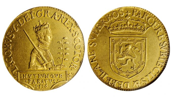 SCOTLAND. 20 Pound Piece, 1576. Second Coinage