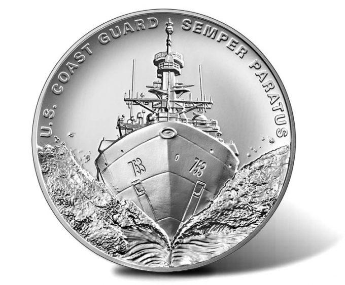 U.S. Coast Guard 2.5 oz Silver Medal - obverse