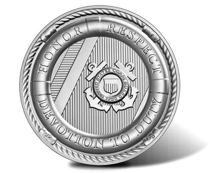 U.S. Coast Guard 2.5 oz Silver Medal - reverse