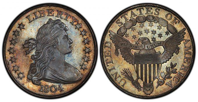 1804 Class I Original Draped Bust dollar, PCGS Proof-68