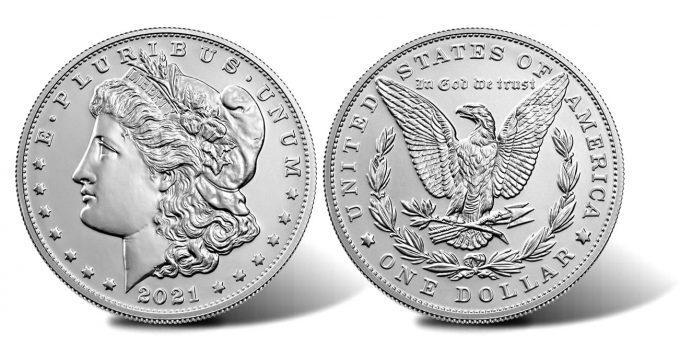 2021 Morgan Silver Dollar - Obverse and Reverse