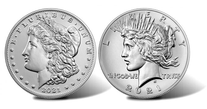 2021 Morgan and Peace Silver Dollars - Obverses