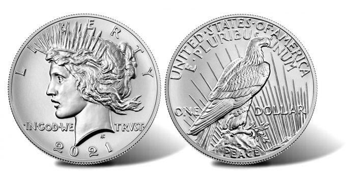 2021 Peace Silver Dollar - Obverse and Reverse