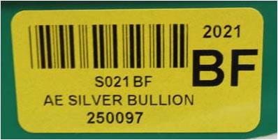 AE Silver Bullion code