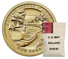 U.S. Mint image showing a bag of 2021-D New York American Innovation dollars