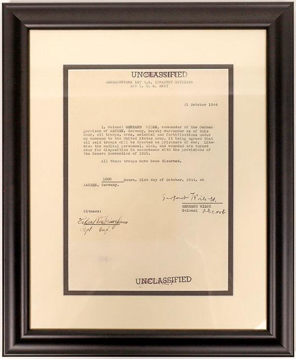 German surrender letter