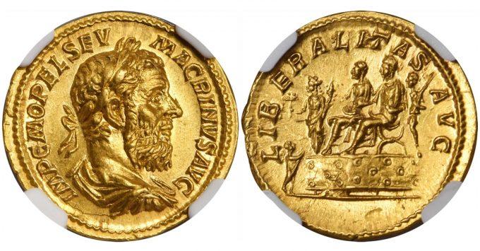 MACRINUS, A.D. 217-218. AV Aureus